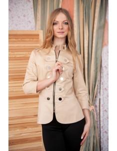 Пиджак модель гусарик №1 бежевый. Размер 42-48