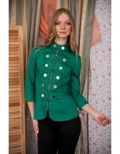 Пиджак модель гусарик №1 цвет трава. Размер 42-48