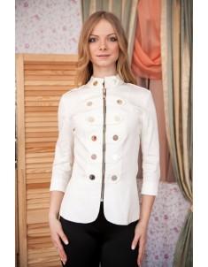 Пиджак модель гусарик №1 молоко. Размер 42-48