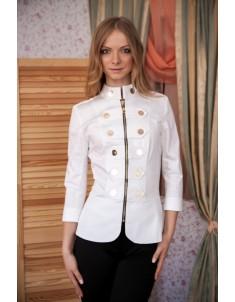 Пиджак модель гусарик №1 белый. Размер 42-48
