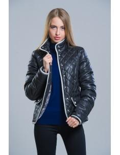 Куртка модель №8 (клетка) черная. Размер 42-50