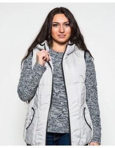 "Жилет женский ""Батал"" серый (модель №12). Размер 50-62"