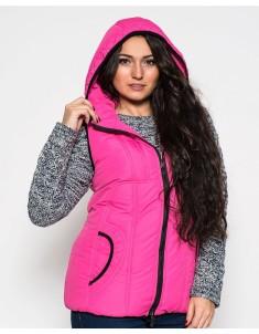 """Жилет женский """"Батал"""" розовый (модель №12). Размер 50-62"""