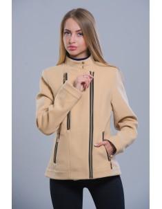 Пальто модель №1 (короткое) бежевое. Размер 42-48