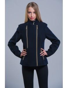 Пальто модель №1 (короткое) темно-синее. Размер 42-48