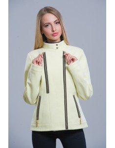 Пальто модель №1 (короткое) лимон. Размер 42-48