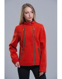Пальто модель №1 (короткое) терракот. Размер 42-48