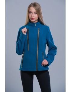 Пальто модель №1 (короткое) морская волна. Размер 42-48
