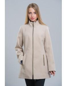 Пальто модель №2 (длинное) бежевое. Размер 42-50