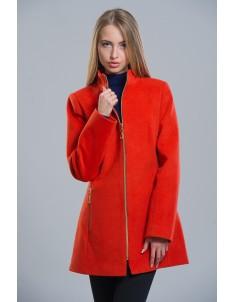 Пальто модель №2 (длинное) терракот. Размер 42-50