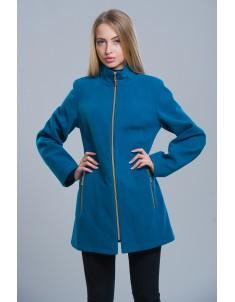 Пальто модель №2 (длинное) цвет морской волны. Размер 42-50