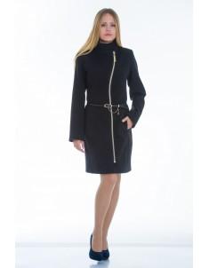 Пальто модель №4 волна черное. Размер 40-50