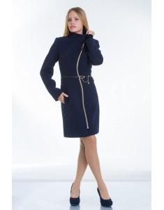 Пальто модель №4 волна синее. Размер 40-50