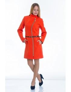 Пальто модель №4 волна оранжевое. Размер 40-50