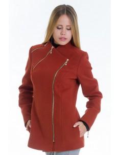 Пальто модель №5 змейка рыжее (весна/осень). Размер 42-48