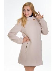 Пальто модель №6 планка бежевое (весна/осень). Размер 44-52