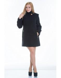 Пальто модель №6 планка черное (весна/осень). Размер 44-52