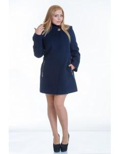 Пальто модель №6 планка синее (весна/осень). Размер 44-52