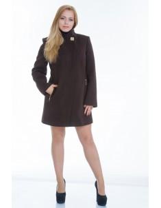 Пальто модель №6 планка шоколадное (весна/осень). Размер 44-52