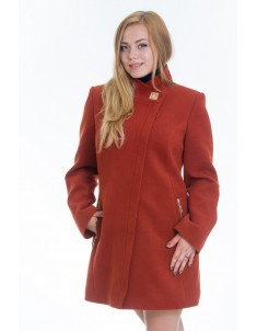 Пальто модель №6 планка рыжее (весна/осень). Размер 44-52