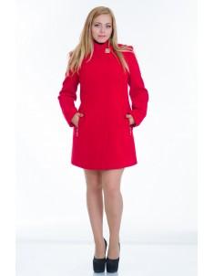 Пальто модель №6 планка красное (весна/осень). Размер 44-52