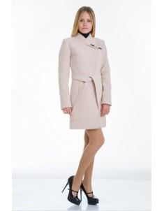 Пальто модель  №8 (хляст) бежевое. Размер 40-48
