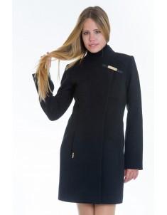 Пальто модель  №8 (хляст) черное. Размер 40-48