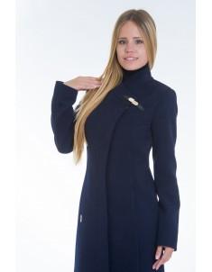 Пальто модель  №8 (хляст) синее. Размер 40-48