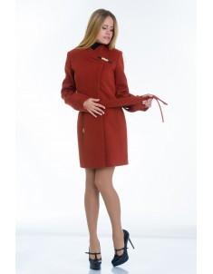 Пальто модель  №8 (хляст) рыжее. Размер 40-48