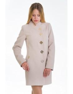 Пальто модель №10 декор бежевое (весна/осень). Размер 40-48