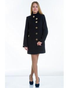 Пальто модель №10 декор черное (весна/осень). Размер 40-48