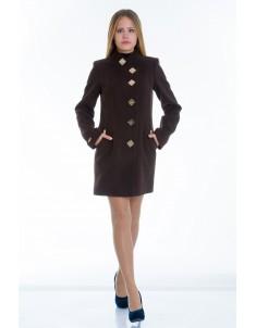 Пальто модель №10 декор шоколадное (весна/осень). Размер 40-48