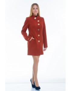 Пальто модель №10 декор рыжее (весна/осень). Размер 40-48