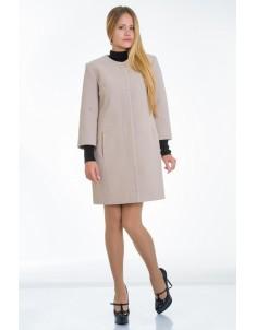 Пальто модель №11 3/4 рукав бежевое (весна/осень). Размер 40-48