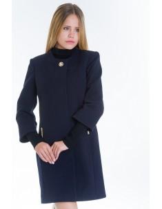 Пальто модель №11 3/4 рукав синее (весна/осень). Размер 40-48