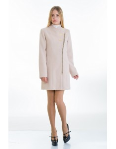 Пальто модель №12 2 декор бежевое (весна-осень). Размер 40-48
