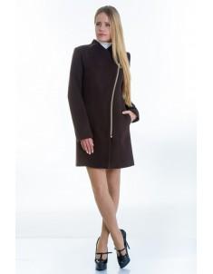 Пальто модель №12 2 декор шоколадное (весна-осень). Размер 40-48
