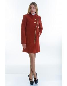 Пальто модель №12 2 декор рыжее (весна-осень). Размер 40-48