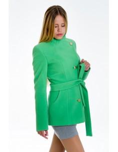 """Пальто женское """"Гусарик"""" салатовое (модель №13). Размер 40-48"""