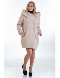 Пальто модель №14 oversize бежевое (весна/осень). Размер 46-56