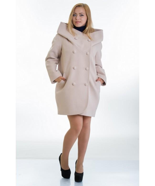 Бежевое модель пальто № 14 oversize