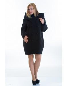 Пальто модель №14 oversize черное (весна/осень). Размер 46-56