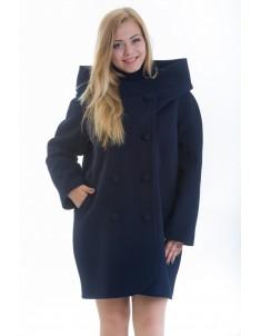 Пальто модель №14 oversize синее (весна/осень). Размер 46-56