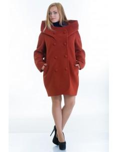 Пальто модель №14 oversize рыжее (весна/осень). Размер 46-56