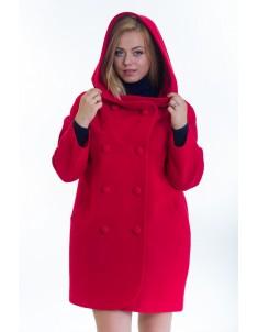 Пальто модель №14 oversize красное (весна/осень). Размер 46-56