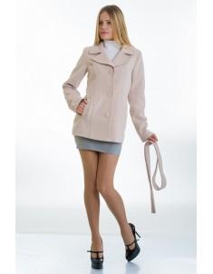 Пальто модель №15 жакет бежевое (весна/осень). Размер 40-48