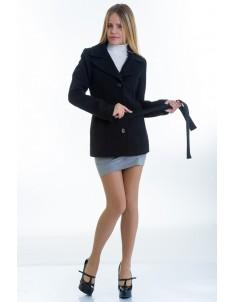 Пальто модель №15 жакет черное (весна/осень). Размер 40-48