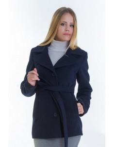 Пальто модель №15 жакет синее (весна/осень). Размер 40-48