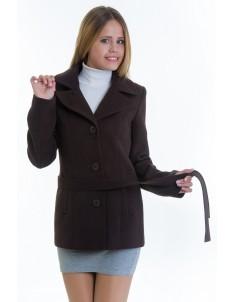 Пальто модель №15 жакет шоколадное (весна/осень). Размер 40-48