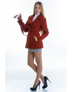 Пальто модель №15 жакет рыжее (весна/осень). Размер 40-48